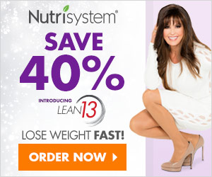 Nutrisystem Ad For 40% Off Of Lean 13